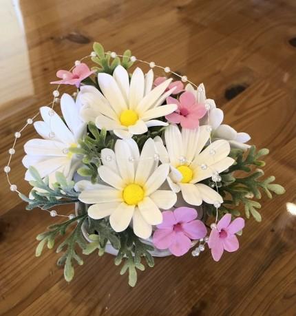 クレイアートの花