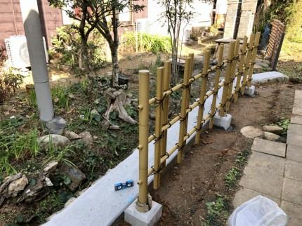 ⑥ 竹フェンス設置 1