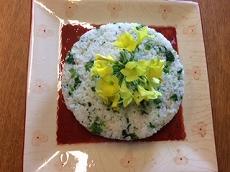 菜の花ご飯でヘルシーランチ
