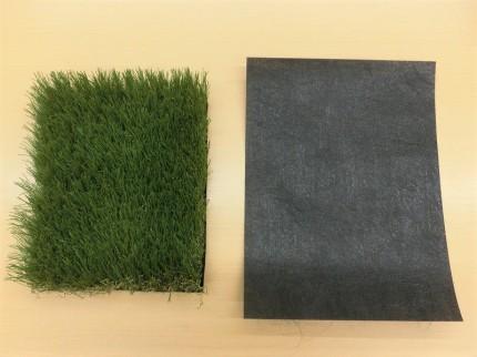 人工芝と防草シート