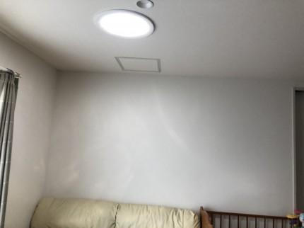 スカイライトチューブ完成の室内