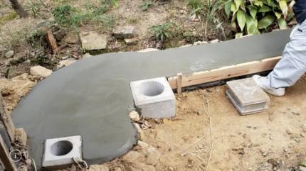 ⑤ フェンス基礎設置