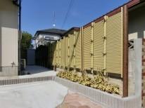 既存の竹垣:タカショーのみす垣