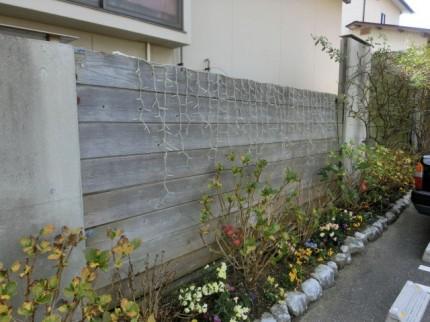 南側の板塀リフォーム前