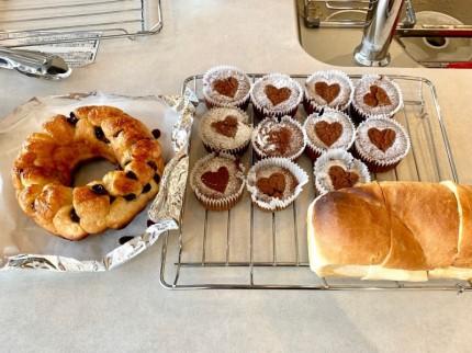 モンキーブレッドなどパン教室で作ったパン