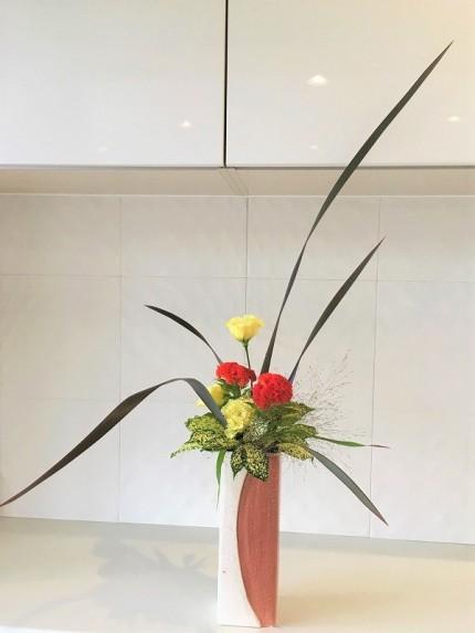 シンプルで素敵な生け花