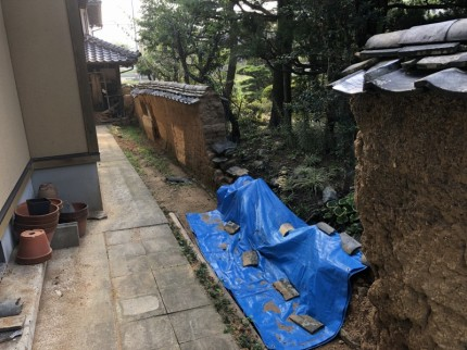 竹フェンス設置のビフォー写真