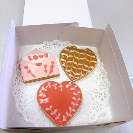 バレンタインのアイシングクッキー完成