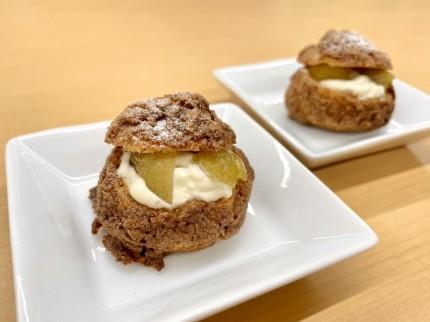 お菓子教室で作った栗のシュークリーム