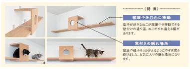 猫の存在を確認でき、開放感も演出できます