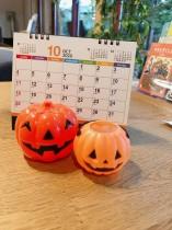 ②10月カレンダーかぼちゃ