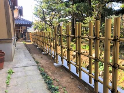 竹フェンス設置のアフター写真