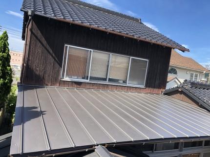 傷んだ屋根の修繕完了